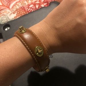 Coach leather bangle bracelet